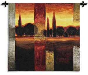 Reflections II | Contemporary Landscape Woven Tapestry | 44 x 45