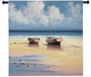 """Restful Moorings   35"""" x 35""""   Woven Tapestry Hanging"""