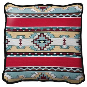 Rimrock Red Southwest Throw Pillow | 17 x 17