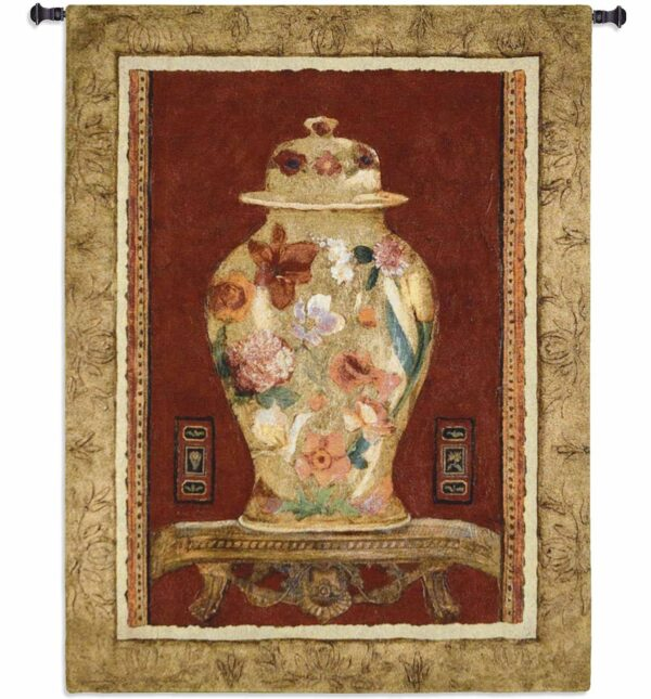 Romantic Urn I | 44 x 34 | Woven Hanging Tapestry