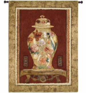 Romantic Urn II | 44 x 34 | Woven Hanging Tapestry