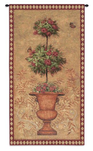 Rose Topiary I | French Country Tapestry | 53 x 26