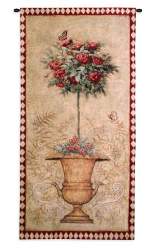 Rose Topiary II | French Country Tapestry | 52 x 25