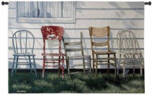 Row Of Chairs | 37 x 53 | Woven Tapestry