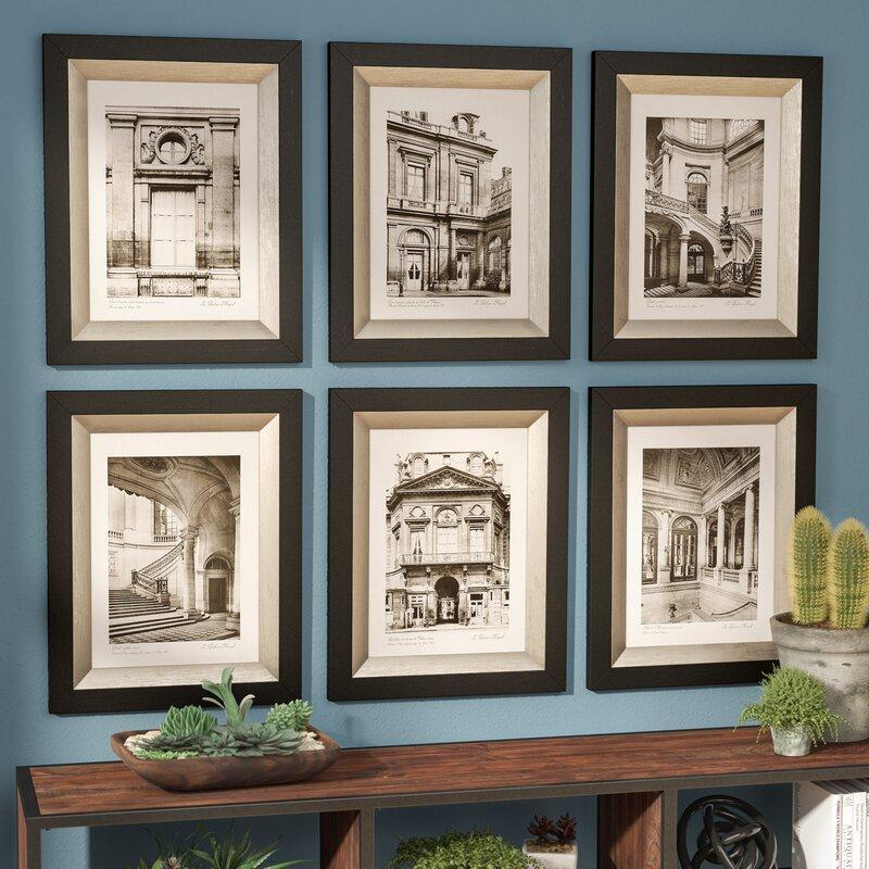 Scenes from Paris 6-Piece Framed Photographic Art Prints
