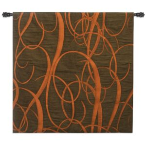 Serif Copper | Woven Art Tapestry | 52 x 52