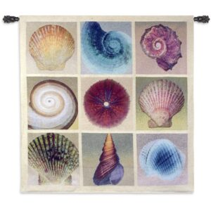 Shell Collection | Large Coastal Tapestry | 52 x 52
