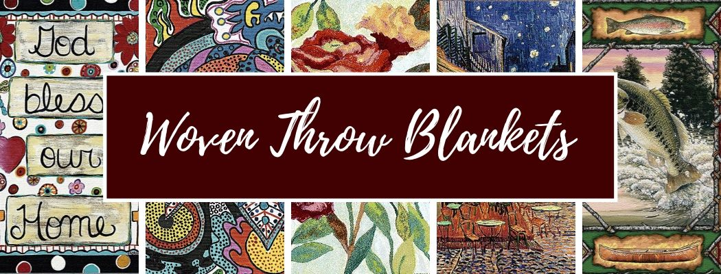 Shop Tapestry Woven Throw Blankets