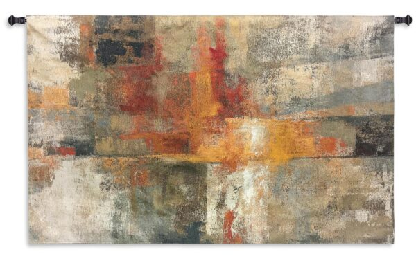 Silver and Amber Crop | Large Woven Art Tapestry | 40 x 62