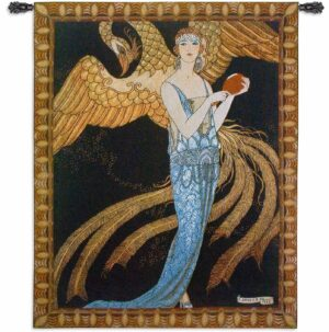 """Sortileges   43"""" x 52""""   Woven Wall Tapestry"""