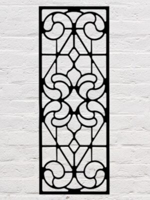 Stained Glass Wrought Iron Wall Decor  | 18 x 47