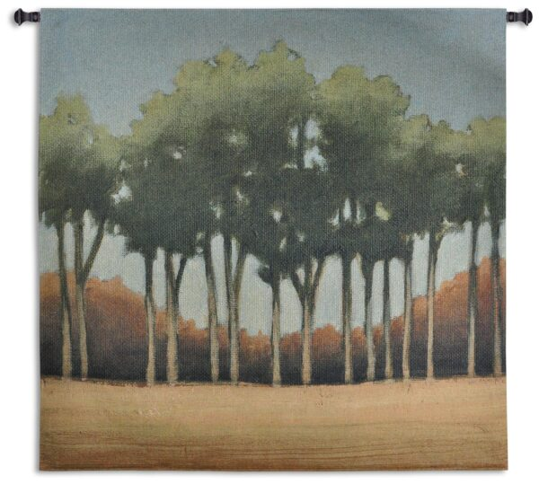 Stand of Trees | Woven Landscape Tapestry | 50 x 52