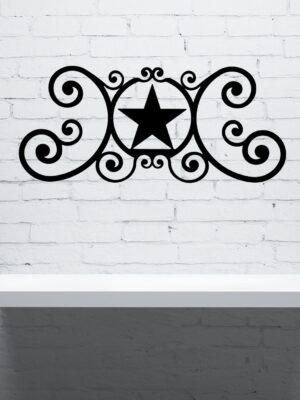 Star Wrought Iron Wall Plaque | Indoor Outdoor | 24""