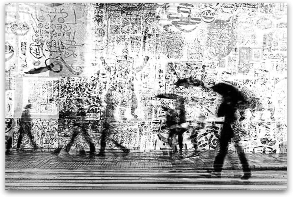 Startonight Canvas Wall Art Black and White Abstract Day City Life