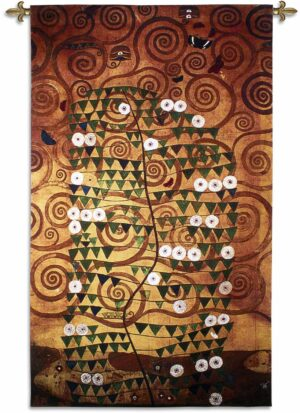 Stoclet Sketch by Gustav Klimt | 52 x 86 | Woven Tapestry Decor