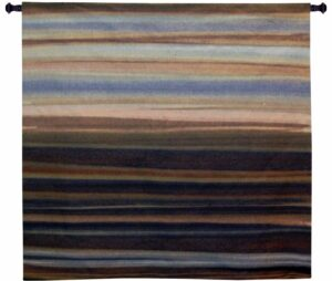 Striedescent   53 x 53   Woven Wall Tapestry