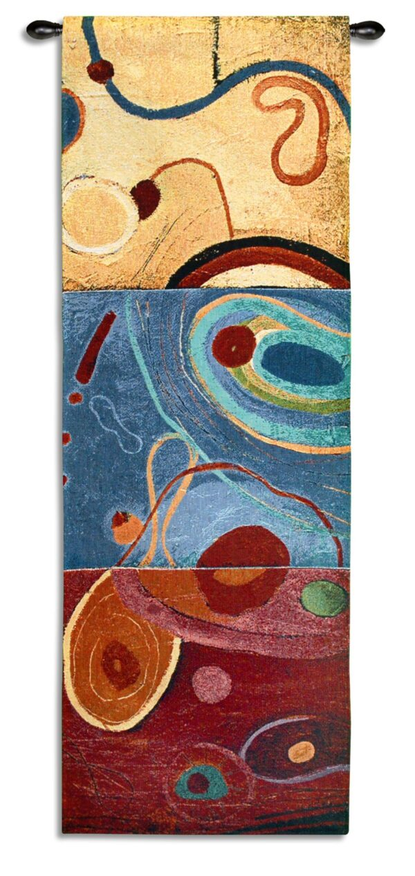 String Theory III | Woven Tapestry Wall Hanging | 49 x 17