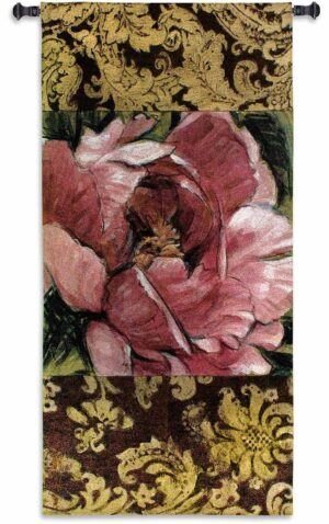 """Summer's Bounty   35"""" x 73""""   Woven Wall Tapestry   Chenille & Cotton"""