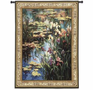 """Summer Lily   53"""" x 68""""   Tapestry Wall Hanging"""