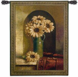 """Sunflower with Persian Rug 