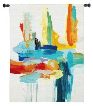 Synergy II | Large Abstract Wall Tapestry | 53 x 53