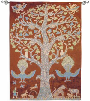 Temple Tree of Life | 62 x 83 | Woven Tapestry Decor