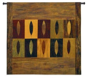Ten Leaves | Contemporary Tapestry Wall Hanging | 51 x 52