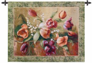 "Terrace Tulips | 45"" x 32"" 