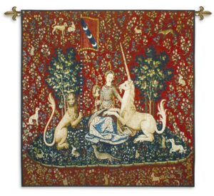 The Lady and the Unicorn Sight | Traditional Woven Art Tapestry | 48 x 53