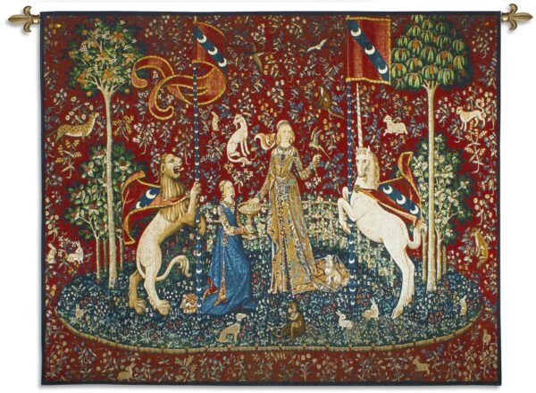 The Lady and the Unicorn Taste | Traditional Woven Art Tapestry | 51 x 62
