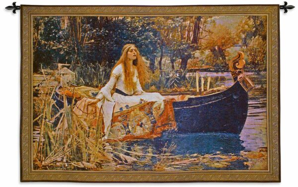 The Lady of Shalott | 63 x 43 | Medieval Woven Wall Tapestry