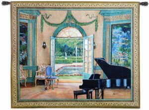 The Music Room Monet | 52 x 64 | Woven Tapestry Decor