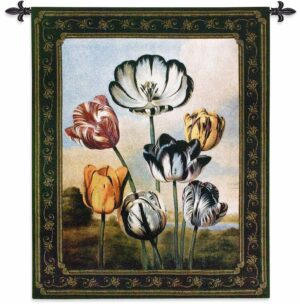 """The Temple of Flora   44"""" x 53""""   Tapestry Wall Decor"""
