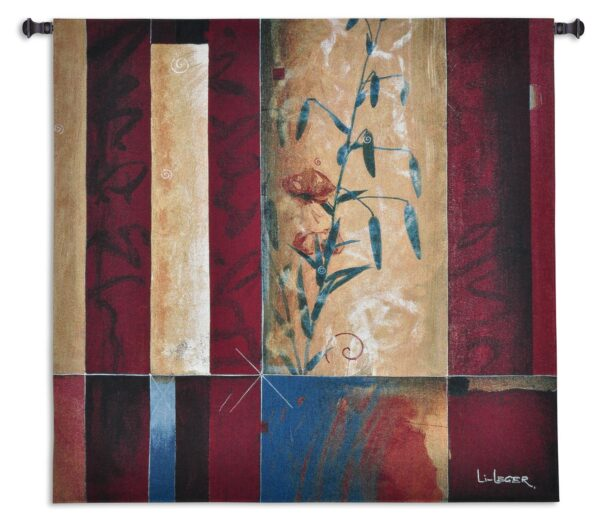 Tiger Lily | Abstract Floral Tapestry Wall Hanging | 52 x 53