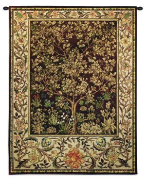 Tree of Life Umber | Traditional Tapestry Wall Hanging | 40 x 30