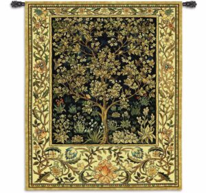 "Tree of Life Midnight Blue, Chenille & Cotton | 53"" x 71"" 