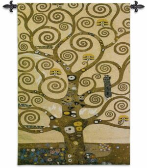 Tree of Life With Gold Embellishments | 35 x 53 | Tapestry Wall Hanging