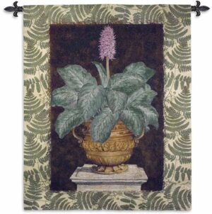 Tropical Urn II Large | 66 x 52 | Woven Tapestry Decor