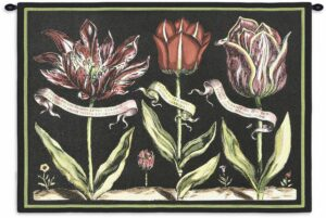 "Tulips on Black I | 34"" x 26"" 