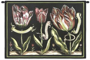 "Tulips on Black II | 34"" x 26"" 