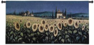 "Tuscan Panorama Sunflowers | 53"" x 26"" 