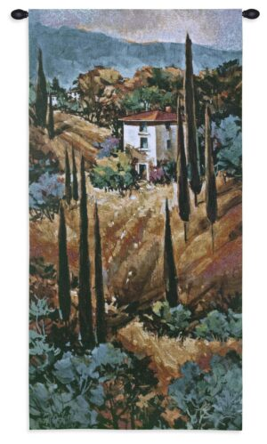 Tuscany Blue | Landscape Wall Tapestry | 53 x 26
