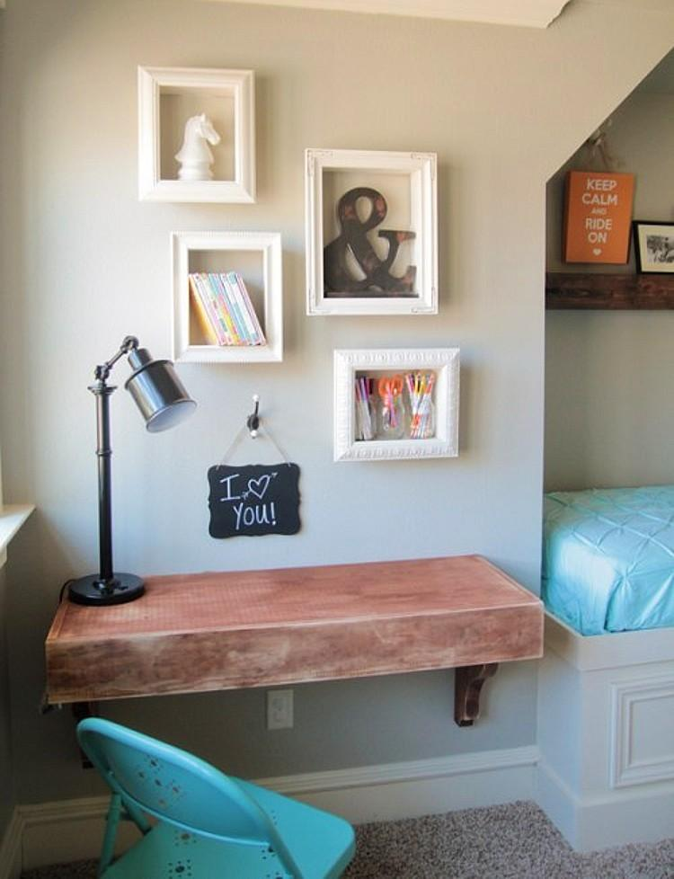 Upcycled Picture Frame Wall Shelves