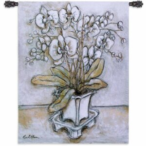 "White Orchid | 42"" x 53"" 