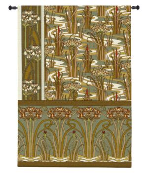 Willam's Golden Garden | Woven Art Tapestry | 72 x 53