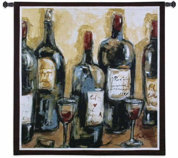 """Wine Bar   53"""" x 53""""   Woven Wall Tapestry"""