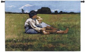 Winslow Homer's Boys In the Pasture   53 x 30   Woven Hanging Tapestry