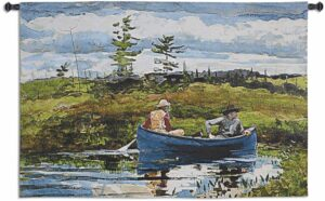 Winslow Homer's The Blue Boat | 53 x 35 | Woven Tapestry