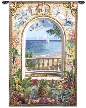Wish You Were Here | 59 x 40 | Woven Tapestry