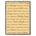 Word Hugs Inspirational Tapestry Throw Blanket Cream